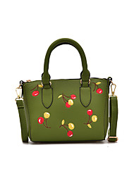 Women Shoulder Bag PU All Seasons Formal Casual Wedding Outdoor Office & Career Professioanl Use Hobo Zipper Pinky Red Beige Black Green