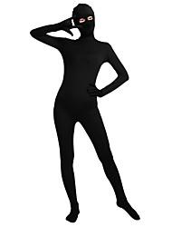 cheap -Shiny Zentai Suits Zentai Cosplay Costumes Beige Dark Green Fuschia Brown Silver Solid Color