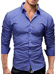 billige -Tynd Herre - Ensfarvet Aktiv Gade Skjorte