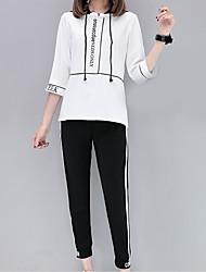 T-shirt Pantalone Completi abbigliamento Da donna Casual Per uscire Contemporaneo Estate,Caratteri
