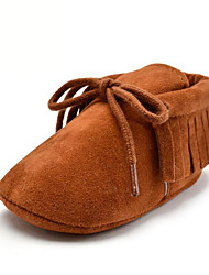 cheap -Girls' Shoes Microfibre Summer / Fall First Walkers Loafers & Slip-Ons Tassel for Kid's Pink / Camel / Khaki / Party & Evening