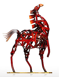 Metal Figurine Modern Metal Vintage Home Decoration Weaving Horse Figurine Handicrafts Animal Craft Gift For Home Office