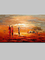 Large Hand Painted Abstract African Tribes People Oil Painting On Canvas Wall Art For Home Decoration Ready To Hang