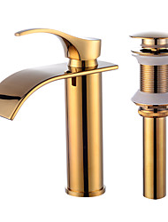 cheap -Contemporary Centerset Ceramic Valve Faucet Set