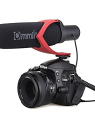 CoMica Electrit Super-Cardioid Directional Condenser Shotgun Video Microphone for Video and Interview with Camera Camcorder Red Edition