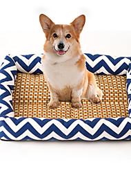 cheap -Cat Dog Bed Pet Mats & Pads Stripe Breathable Soft Elastic Durable Orange Dark Blue Blue