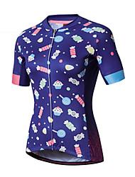 cheap -SANTIC Women's Short Sleeve Cycling Jersey - Purple Bike Jersey