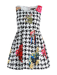 cheap -Women's Chic & Modern A Line Dress - Floral, Modern Style