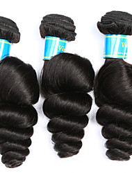 cheap -Brazilian Hair Loose Wave Human Hair Weaves 3 Pieces Natural Color Hair Weaves