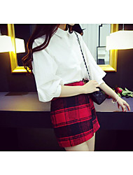 Women's High Rise Going out Mini Skirts Bodycon Solid Spring Summer