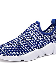 Men's Athletic Shoes Comfort Light Soles PU Summer Fall Athletic Casual Outdoor Track & Field Light Soles Comfort Flat HeelBlack Ruby