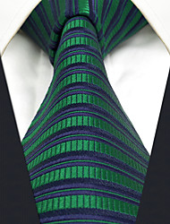 CXL19 Extra Long New For Men Neckties Dark Blue Green Stripes 100% Silk Handmade Casual Fashion Dress