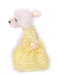 Dog Dress Dog Clothes Cute Fashion Birthday Princess Light Blue Blushing Pink Yellow