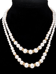 cheap -Women's Circle Strands Necklaces Imitation Pearl Alloy Strands Necklaces , Party Daily Casual