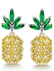 cheap -Stud Earrings Unique Design Euramerican Fashion Pineapple Creative Luxury Adorable Classic Charm Elegant Copper Platinum Plated Eco-friendly Material