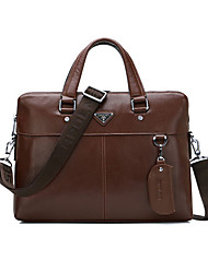 Men Bags All Seasons Cowhide Tote for Casual Formal Office & Career Black Brown