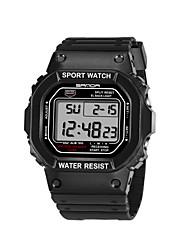 Homens Relógio de Moda Relógio de Pulso Relógio Esportivo Quartzo Plastic Banda Casual Preta