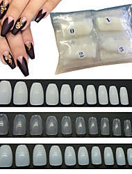 cheap -600 Pcs/Pack Long Fake Nail Full Cover DIY Beauty Art Tips Ballerina Nails For Home Professional Salon