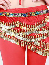 cheap -Belly Dance Hip Scarves Women's Performance Polyester Rhinestones Sequin 1 Piece Belt