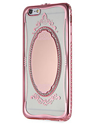 cheap -Case for Apple iPhone 7 7Plus Glitter Shine Lace Printing Mirror Pattern Soft TPU Back Cover for iPhone 6s Plus e 6 Plus  6s  6