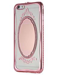 Per Custodie cover A specchio Fantasia/disegno Custodia posteriore Custodia La stampa in pizzo Glitterato Morbido TPU per AppleiPhone 7