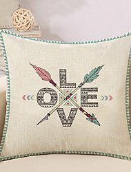 cheap -1 Pcs Creative LOVE Letter Arrows Pillow Cover Cotton/Linen 45*45Cm Pillow Case