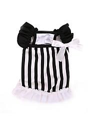 Недорогие -Платья Одежда для собак Классика Очаровательный На каждый день Мода В полоску полоса Костюм Для домашних животных