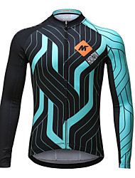 Mysenlan Cycling Jersey Men's Long Sleeves Bike Jersey Top Quick Dry Polyester Classic Fashion Spring Summer Fall/Autumn Cycling/Bike
