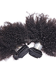 10-26 Inch Hair Bundles Afro Kinky Curly Human Hair Weaves For Black Women Brazilian Natural Color Hair Weft Extensions