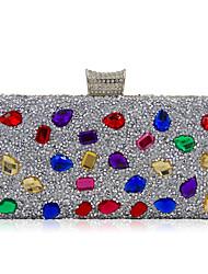 жен. Мешки Все сезоны Полиэстер Специальный материал Вечерняя сумочка Crystal / Rhinestone Акриловые украшения для Свадьба Для праздника