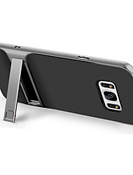 cheap -Case For Samsung Galaxy S8 Plus S8 Shockproof with Stand Back Cover Solid Color Hard TPU for S8 Plus S8 S7