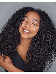 cheap -Unprocessed Human Hair Lace Front Wig / Glueless Lace Front Wig Brazilian Hair 130% Density Natural Hairline / African American Wig Women's Short Human Hair Lace Wig / Curly
