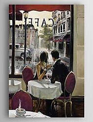 preiswerte -Handgemalte Menschen Vertikal, Moderne Künsterlischer Stil Abstrakt Segeltuch Hang-Ölgemälde Haus Dekoration Ein Panel