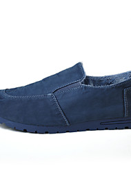 Men's Loafers & Slip-Ons Cool Fabric Fall Winter Casual Flat Heel Pool Gray Flat
