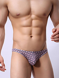 billige -Herre Herrer Sexet Push-Up Ultrasexet trusse Underbukser-Trykt mønster