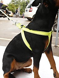 cheap -Dog Harness Leash Reflective Portable Breathable Safety Adjustable Solid Nylon Orange Yellow Rose Green