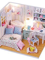 economico -Casa per bambole Kit per costruzioni Giocattoli Fai da te Casa Tessile Legno Plastica Classico Pezzi Per bambini Regalo