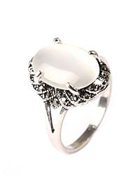 abordables -Bague / Anneaux Femme Zircon cubique Alliage Basique Bijoux Blanc pour Anniversaire