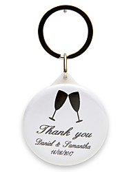 cheap -Classic Theme Keychain Favors Plastic Keychains-Piece/Set Wedding Favors