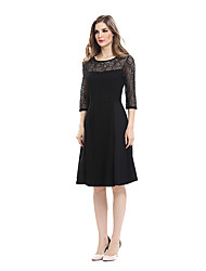 Elegant Sexy Lace See Through Tunic Casual Club Bridesmaid Mother of Bride Dress Skater A-Line Party Dress