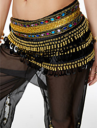 cheap -Belly Dance Hip Scarves Women's Performance Sequin Flannel Belt Beading Sequin Paillettes 1 Piece Hip Scarf