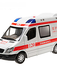 cheap -Toy Cars Model Car Police car Ambulance Vehicle Toys Simulation Pull Back Vehicles Music & Light Metal Alloy Alloy Metal Pieces