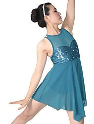 Danza classica Abiti Per donna Bambini Da esibizione Nylon Elastene Paillettes Licra Drappeggi Paillettes 2 pezzi Senza maniche Naturale