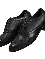 Men's Shoes Nappa Leather Cowhide Spring Winter Comfort Formal Shoes Oxfords Lace-up For Wedding Party & Evening Office & Career White