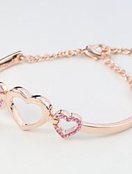 Women's Bangles Jewelry Natural Fashion Vintage Handmade Rhinestone Alloy Heart Irregular Jewelry For Wedding Party Anniversary Birthday