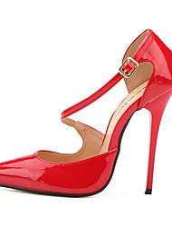 preiswerte -Damen Schuhe PU Sommer Herbst Pumps High Heels Stöckelabsatz Spitze Zehe für Party & Festivität Schwarz Rot