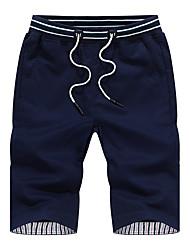 economico -Per uomo Taglie forti Cotone Comodo / Pantaloncini Pantaloni - Tinta unita