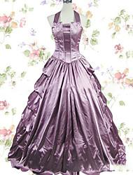 abordables -Rétro Epoque Médiévale Victorien Gothique Costume Femme Robes Bal Masqué Costume de Soirée Violet Claire Vintage Cosplay Autre Satin