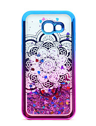 cheap -For Samsung Galaxy A3(2017) A5(2017) Case Cover Flowing Liquid Pattern Back Cover Case Glitter Shine Mandala Soft TPU