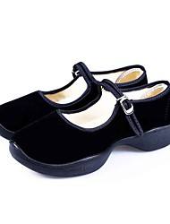 Women's Flats Mary Jane Comfort Fabric Spring Fall Office & Career Athletic Casual Buckle Flat Heel Black Flat